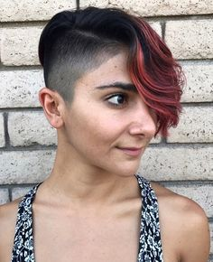 """1,109 Likes, 6 Comments - #BuzzCutFeed (@buzzcutfeed) on Instagram: """"Designed Pixie Pomp  Cut By @inthecut305  Model @rachelringwood  #BuzzCutFeed #BarberShop…"""""""