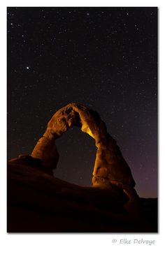 How to take landscape photos at night Self-portrait of the photographer, Travis Burke, shooting the Milky Way under Utah's Delicate Arch, with a little creative lighting from a flashlight. Camera settings: 50 sec., ISO Photo by Travis Burke Night Time Photography, Exposure Photography, Digital Photography, Landscape Photos, Landscape Photography, Nature Photography, Photography Tips, Beginner Photography, Landscape Lighting