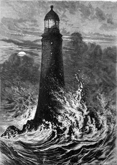 lighthouse storm illustration - Google Search