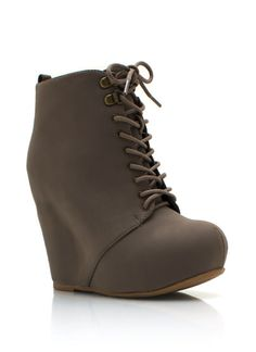 Basically Cool Wedge Booties