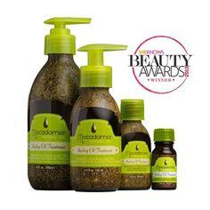 Huile Curative Macadamia Healing Oil Treatment pour tous types de cheveux. Sa composition légère est instantanément absorbée par les cheveux pour les nourrir intensément et leur apporter protection, brillance et douceur.