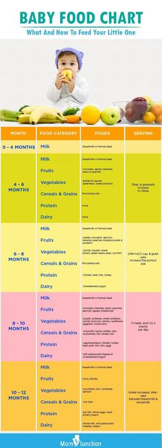 Baby Food Chart: What And How To Feed Your Little One Confused about what solids to feed your baby? Check out our baby food chart to get a quick idea, how to feed your baby, and some easy baby food recipes. Baby Led Weaning, Baby Food Guide, Food Baby, Food Tips, Baby Food Schedule, Baby Feeding Schedule, 4 Month Old Schedule, Baby Food Recipes Stage 1, Baby Solid Food