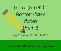 how to write case notes for counseling
