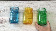 How To Make Tinted Mason Jars (Easy!!)