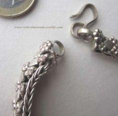 Bracelet indien en Argent ethnique. Indian Silver Bracelet.