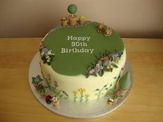 Gardener Cake by Cakes from my Kitchen Garden Theme Cake, Garden Birthday Cake, Garden Party Cakes, 90th Birthday Cakes, Birthday Cake For Mom, Foundant, Cupcakes, Birthday Cake Decorating, Specialty Cakes