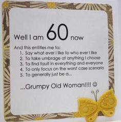 Image Result For Turning 60 Birthday Quotes Funny 60th Poems