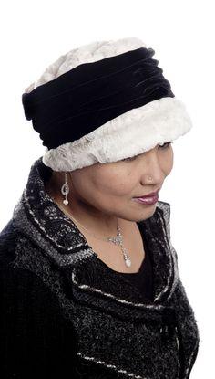 Ana Cloche Hat Style - Luxury Faux Fur in Winters Frost