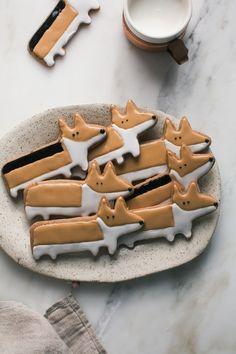 Cute Corgi Chai Cookies from acozykitchen.com