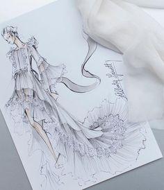 Alberta Ferretti Sketch