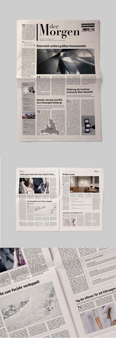 Newspaper Layout. #newspaper #dermorgen #layout #typography                                                                                                                                                                                 More