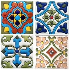 Mosaic Tile and Decorative Tiles Azulejos Art Nouveau, Art Nouveau Tiles, Clay Tiles, Mosaic Tiles, Ceramic Painting, Ceramic Art, Tile Patterns, Textures Patterns, Mexican Pattern