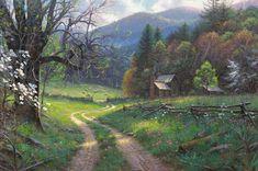 Road to Yesteryear by Mark Keathley - http://www.parsonsthomaskinkadegallery.com/road-yesteryear-mark-keathley/