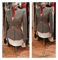 1980s Thierry Mugler Couture Jacket Grey by ShopBetsysBoutique