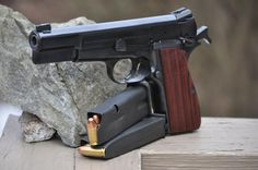 1988 Browning High Power with Craig Spegel grips.