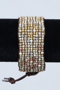 Chan Luu Natural Mother of Pearl Leather Bracelet