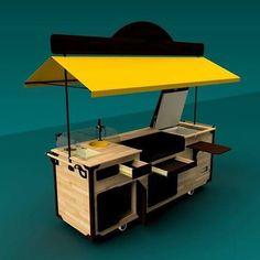Food Stall Design, Food Cart Design, Food Truck Design, Kiosk Design, Cafe Design, Coffee Carts, Coffee Truck, Mobile Coffee Shop, Bike Food