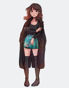 Cute Girl Drawing, Cartoon Girl Drawing, Girl Cartoon, Cartoon Drawings, Art Drawings Sketches, Cute Drawings, Dibujos Tumblr A Color, Itslopez, Dibujos Cute