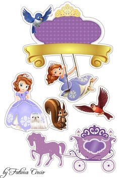 Oh My Fiesta! in english: Princess Sofia the First Princess Sofia Cake, Princess Sofia Birthday, Princess Cake Toppers, Princess Sofia The First, Sofia The First Birthday Party, Tangled Birthday, Toy Story Cake Toppers, Happy Birthday, Mickey Mouse Parties