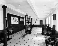 RMS Olympic's First Class Gym