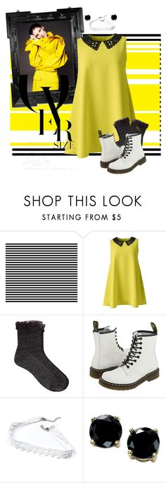 """The Wheels On The Bus Go Round And Round...."" by elmoknowswhereyoulive ❤ liked on Polyvore featuring AX Paris, River Island, Dr. Martens, B. Brilliant, yellow, neon, blackandwhite, bright and choker"