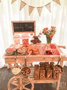 Candy Bar Comunion, Rustic Candy Bar, Garden Wedding, Dream Wedding, Sweet Carts, Autumn Wedding, Rustic Wedding, Baby Shower Vintage, Candy Shop