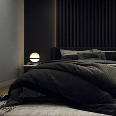 Trendy home minimalist minimalism grey Minimal Bedroom, Modern Bedroom, Bedroom Decor, Black Interior Design, Black Rooms, Home Room Design, Dark Interiors, House Beds, Trendy Home
