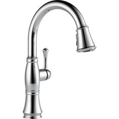 A timeless design for today's homes, this sleek faucet will add a perfect update to any home decor. This stunning kitchen faucet is finished in a chrome.