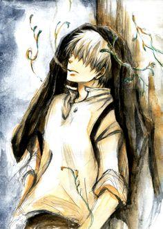 Mushishi | Artland | Yuki Urushibara / Ginko / 「この傍らに【蟲師】」/「猫屋敷 @夏オ23a」のイラスト [pixiv]