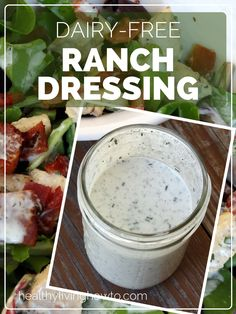 Dairy-Free Ranch Dressing | healthylivinghowto.com Made this and it was delicious!