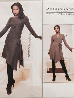 Vintage 1990s Vogue 1634 Donna Karan Asymmetrical door MissKittiwake