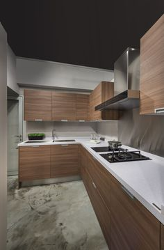 When it comes to designing a small kitchen, the key should always be creativity. See how these top interior designers . Luxury Homes Interior, Home Interior Design, Interior Ideas, Kitchen Ideas Singapore, Kitchen Interior, Kitchen Decor, Cupboard Design, Minimalist Kitchen, Dining Room Design