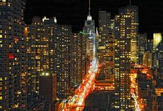 42nd  Street @ Night, NYC