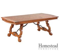 Tuscan furniture makers also incorporated the rich natural shades found in local wood species, which may be stained or left unfinished.  http://www.homesteadfurnitureonline.com/dining-tables_cortona-banquet.html