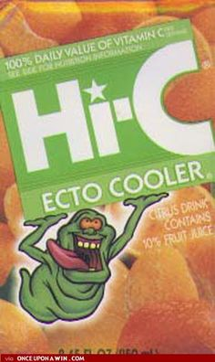 Ecto Cooler Recipe -1 Packet Kool Aid/Flavor Aid Orange -1 Packet Kool Aid/Flavor Aid Tangerine -3/4 Cup Orange Juice (No Pulp) -3/4 Cup Tangerine Juice -1/3 scoop Countrytime Lemonade (Reg or Pink) -1 1/2 Cups Sugar -Green and Yellow food coloring for color.