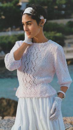 Womens Frill Fitted Sweater PDF Knitting Pattern : Jumper .