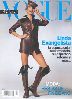 Linda Evangelista by Steven Meisel Vogue Mexico December 2001