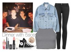 """Dinner With 5sos"" by cherlloyd1d13 ❤ liked on Polyvore featuring Topshop, Boohoo, Converse, Rimmel, MAC Cosmetics and Victoria's Secret"