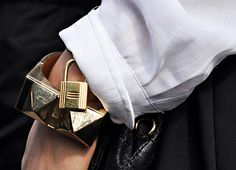 #JewellerySteetStyle detail from Milan Fashion Week AW14 #JewelleryTrends #JewelryTrends #jewelleryoftheday #jewelryoftheday #Jewellery #Jewellery #trends #Adorn #AdornLondon #MilanFashionWeek #StreetStyle #bangle #ring #gold