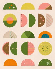 Illustration by Yu Kito Lee: Surface Pattern: Circles