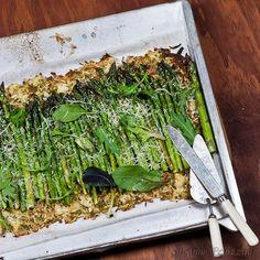 Asparagus Tart - almond meal crust