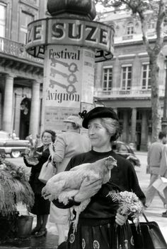 A woman named Marguerite with her pet chicken, going for a walk in Paris, (Nina Leen—The LIFE Picture Collection/Getty Images) Life Pictures, Old Pictures, Old Photos, Funny Pictures, Old Paris, Vintage Paris, Best Vacation Destinations, Best Vacations, Vintage Photographs