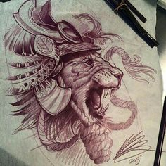 Awesome tatttoo sketch by Damian Robertson