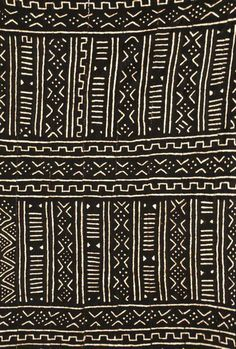 Africa | Details from a piece of mudcloth.  Dogon country, Mali | Image ©Michel Renaudeau