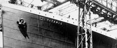 RMs Titanic under construction at Harland and Wolff shipyard in Belfast, Ireland