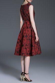 Flower Print Belted Dress