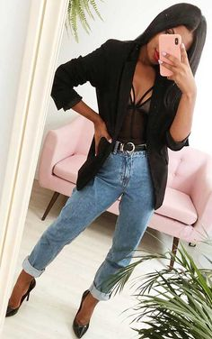 Source by verano Bad And Boujee Outfits, Night Outfits, Cool Outfits, Casual Outfits, Spring Fashion Casual, Look Fashion, Autumn Fashion, Fashion Outfits, Fashion Styles