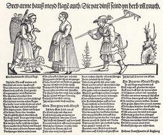 Artist: Schoen, Erhard, Title: Klage der drei Hausmädchen, Date: 1532