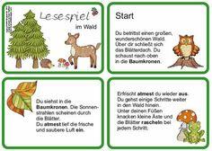 """In der 4. Klasse sind wir noch immer mit dem Thema """"Wald"""" beschäftigt. Zur Abwechselung habe ich dieses Lesespiel  erstellt, das den Kindern..."""