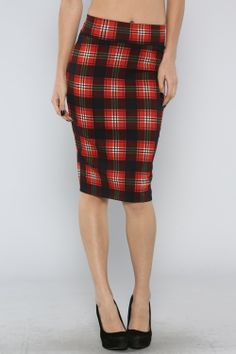 Plaid Midi Skirt #plaid #wholesale #prints #dresses #skirts #tops #shorts #fall #love #fashion #clothing #wiwt #ootd #wotd